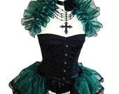 ABSINTH GODDESS Chiffon Burlesque Bustle Skirt GOTHIC Steampunk