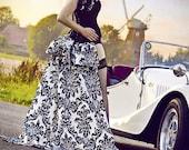 Madame La Shay  SALOON GIRL   Long Burlesque  Luxe Saloon Bustle STEAMPUNK By Gothic Burlesque
