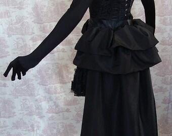 SALOON GIRL   Long Burlesque Steampunk Bustle Goth   By Gothic Burlesque
