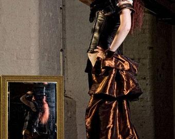 SALOON GIRL   Long Burlesque  Luxe Saloon Bustle STEAMPUNK By Gothic Burlesque