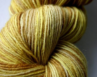yellow fall : BFL fingering weight
