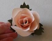 paper rose flower corsage