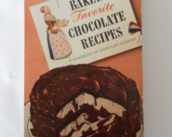 Vintage Bakers Favorite Chocolate Recipe Cook Book
