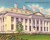 Vintage Postcards - American Red Cross Building - Washington, DC
