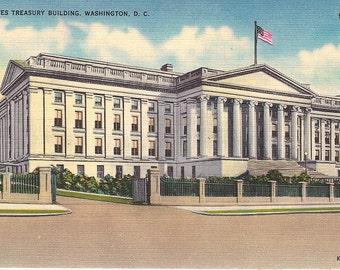 United States Treasury Building - Vintage Postcards - Washington DC