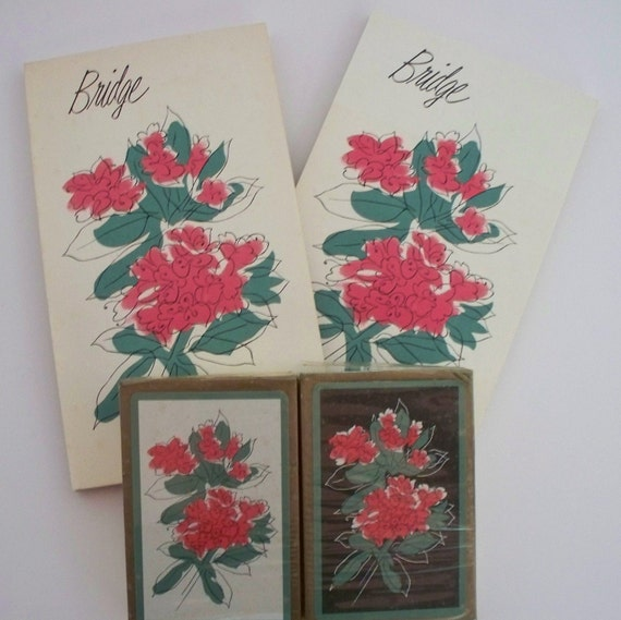 Vintage Playing Cards Set - Bridge Set -  Card Games