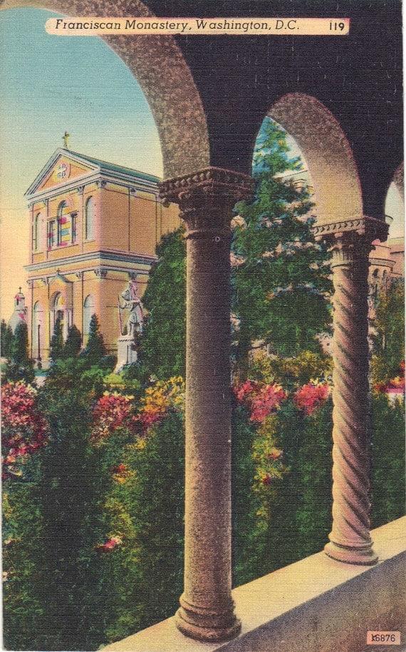 Vintage Postcards - Franciscan Monastery, Washington D.C.