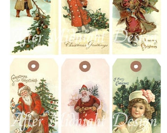 Tags No 16 Christmas Vintage Shipping Tags Digital Sheet