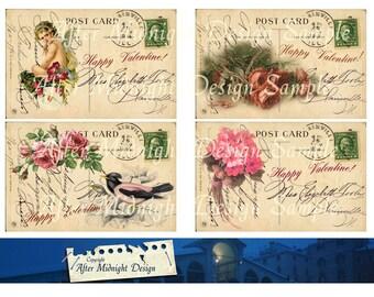 Postcard Valentine No 2 Vintage French