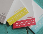 Colorful Braille Letterpress Notecards