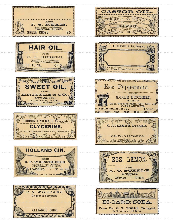 Digital Download Collage Sheet Antique 1800 S Vintage