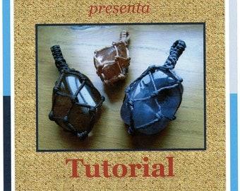 Tutorial n2 sacchettino per pietre een macrame / Macrame bag steen / Macrame inwikkeling Tutorial