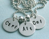 Does Not Compute - Ctrl-Alt-Del - Hand Stamped Sterling Silver Necklace
