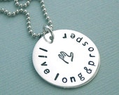 Live Long and Prosper - Hand Stamped Sterling Silver Necklace - Spock necklace