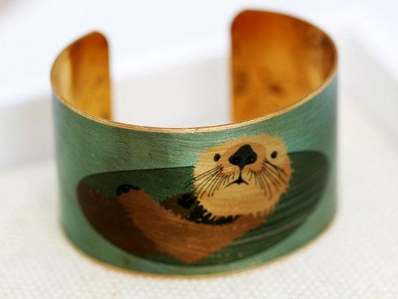 Otter Brass Cuff Bracelet jewelry gift