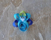 Peacock Ribbon Sculpture Bow