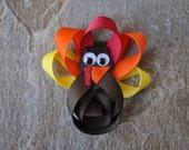 Thanksgiving Turkey Ribbon Sculpture Bow