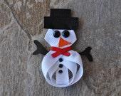 Snowman Ribbon Sculpture Bow