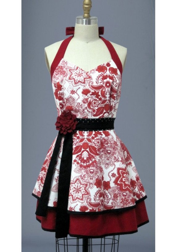 Christmas Apron  - Bib Apron - FREE SHIPPING - 25% OFF Through November 30th