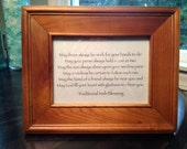 Traditional Irish Blessing in a Solid Wood Frame