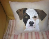 Handpainted Throw Pillow Boxer Puppy