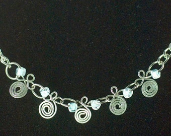 Mixed metal wire necklace