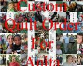 Reserved Custom Photo Quilt Order for Anita