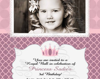 Princess Birthday Invitation , Princess Birthday Party Invitation