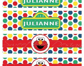 Sesame Street Water Bottle Labels- Custom Printable