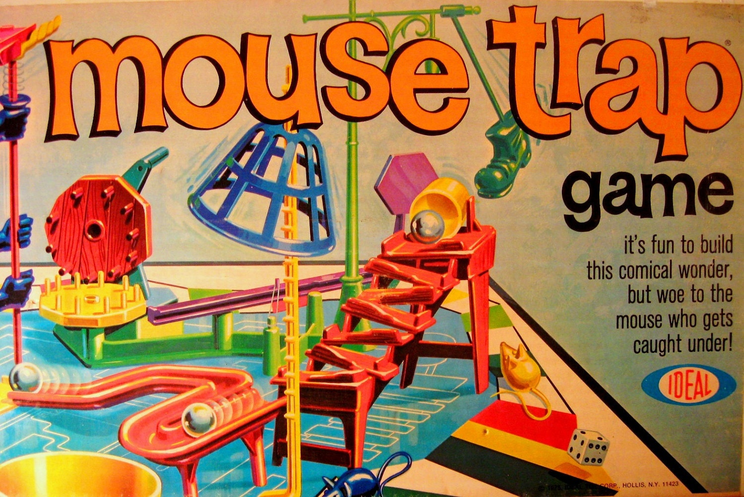 Vintage 1975 Mouse Trap Game