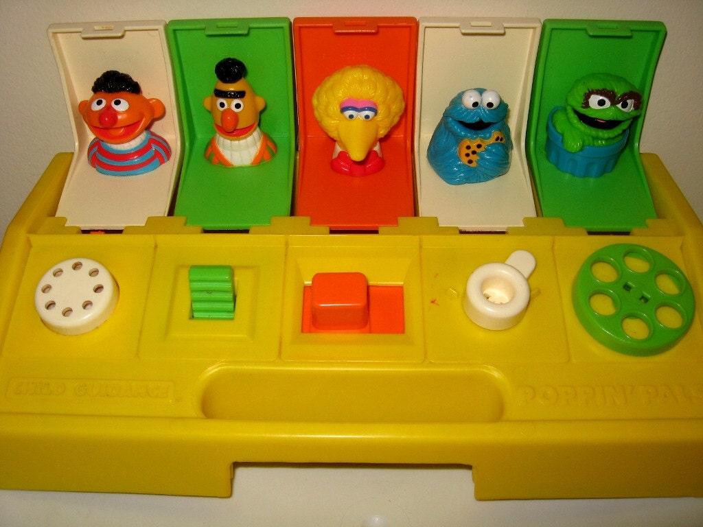 Toys That Pop Up : Vintage sesame street pop up toy