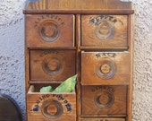 Primitive Spice Cabinet Early 1800s RESERVED