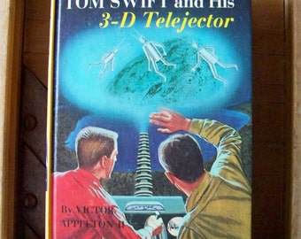 Vintage Tom Swift Hardcover Book 3D Telejector Tom Swift Readers Young Scientist Vintage 1960s