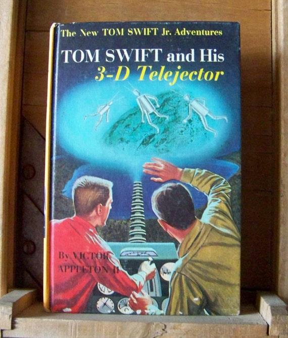 Vintage Tom Swift Hardcover Book 3D Telejector Tom Swift Readers Young Scientist Vintage 1960s