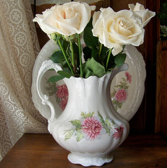 Vintage Pitcher and Wash Basin Eugenia Ironstone
