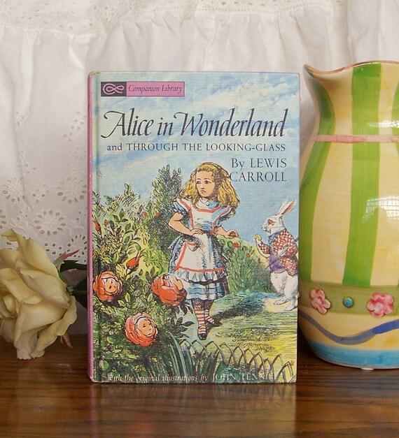 Vintage Book Alice in Wonderland by Lewis Carrol