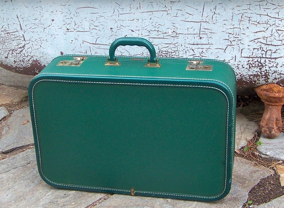 Air Pak Suitcase Green 1940s