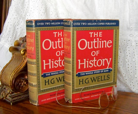 Vintage History Book- The Outline of History by H.G. Wells