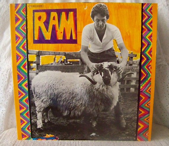 Vintage Paul Mccartney Ram Vinyl Record Album By Cynthiasattic