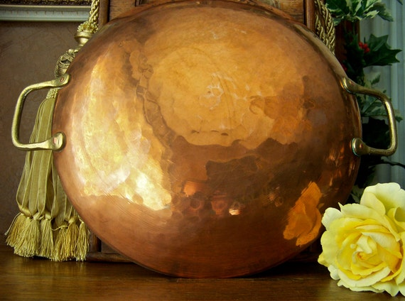 Antique Turkish Copper Saute Pan