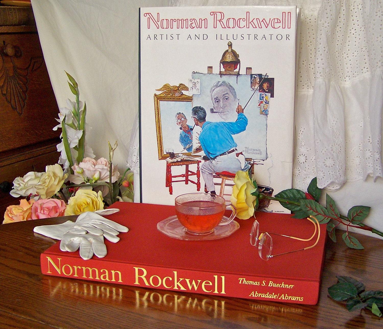 Vintage Hermes Coffee Table Book: Vintage Norman Rockwell Coffee Table Book