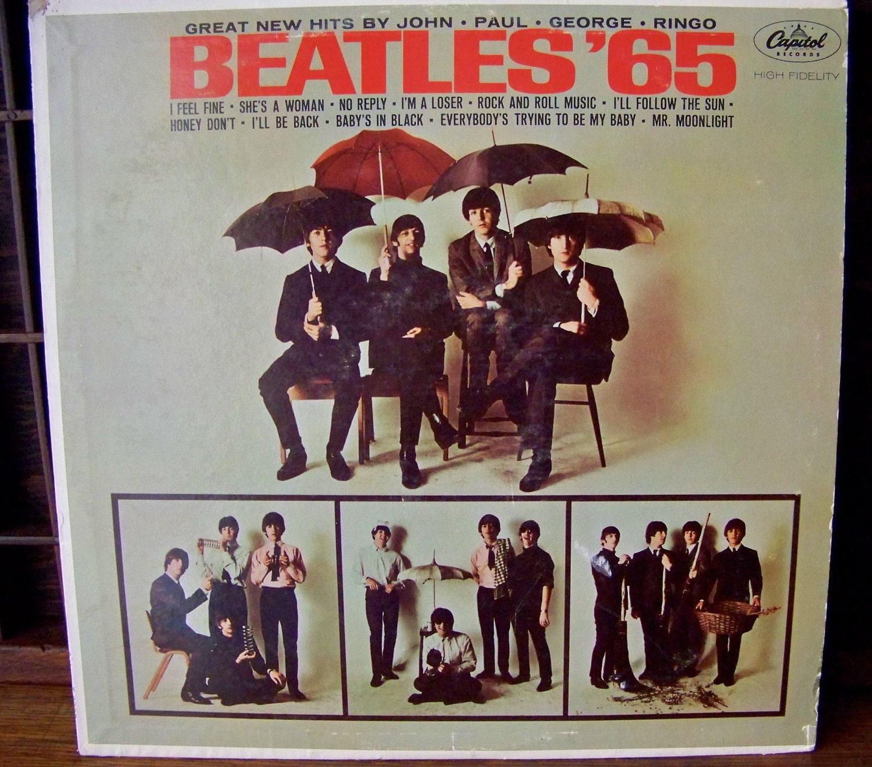 Vintage Beatles 65 Vinyl Record Album