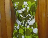 Vintage Outrigger Hotel Honolulu, Hawaiian Uniform Dress
