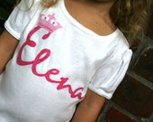 PRINCESS- Party Shirt- Short Sleeve- Front Only- Personalized