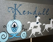 CINDERELLA- Table Centerpiece- Name, Horses and Carriage