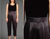 RESERVED Vintage black velvet jumpsuit