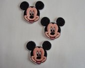 Our FAVORITE Boy MOUSE - Embroidered felt Embellishments / Appliqués - Listing for 3 - Ready to ship