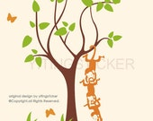 Monkey wall decal-Baby Nursery Decor- vinyl Murals Graphic wall stickers 4