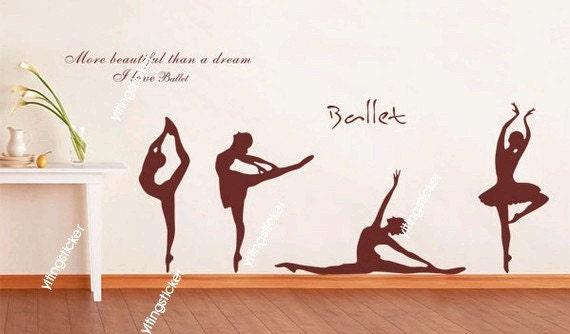 ballet dance Vinyl Home Wall Art Decal Sticker not include
