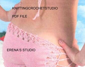 Crochet Bikini  short and top Pattern only in PDF Files